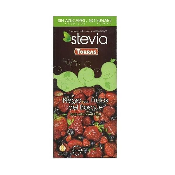 Tablette Chocolat Noir Fruits des Bois Sans Sucre