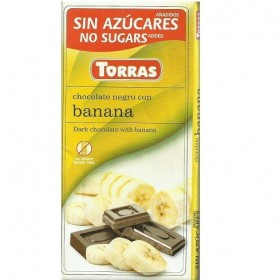 Tablette Chocolat Noir Banane Sans Sucre