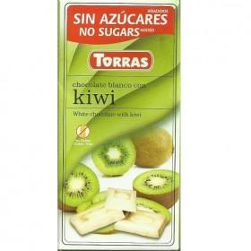 Tablette Chocolat Blanc au Kiwi Sans Sucre