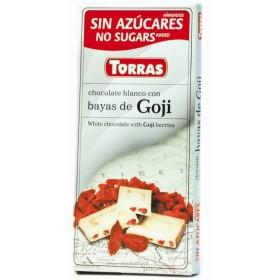 Tablette Chocolat Blanc et Baies de Gogi Sans Sucre