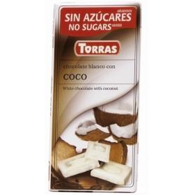 Tablette Chocolat Blanc et Coco Sans Sucre