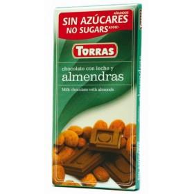 Tablette Chocolat Lait Amandes Sans Sucre