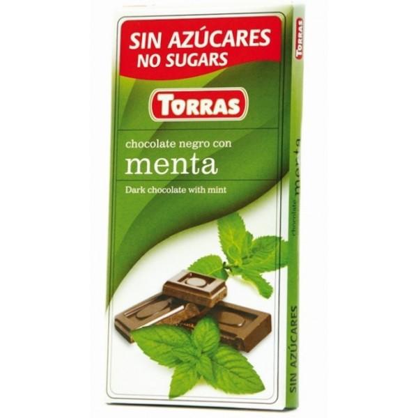 Tablette Chocolat Noir et Menthe Sans Sucre