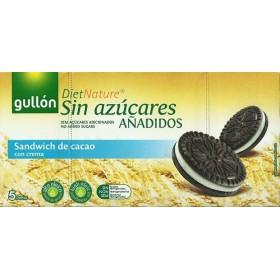 Biscuits Ronds Cacao Fourrés Crème Sans Sucre