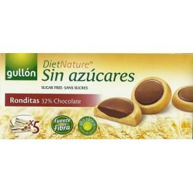 Biscuits Ronds Fourrés Chocolat Noir Sans Sucre