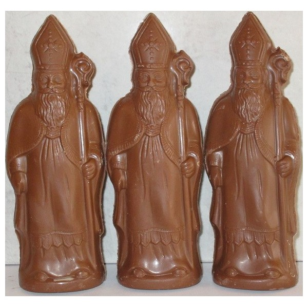figurines creuses chocolat lait sans sucre