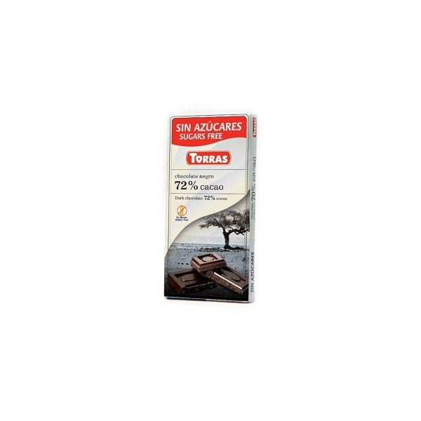 Tablette Chocolat Noir 72% Sans Sucre  ajouté T