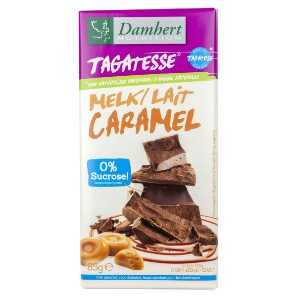 Tablette Chocolat lait Caramel Sans Sucre Tagatose