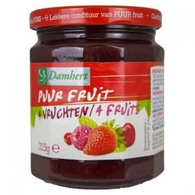 Confiture pur fruit  avec 4 fruits  315g D