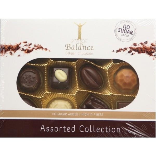 Coffret de fins chocolat belges sans sucre pour diabétiques B 145g
