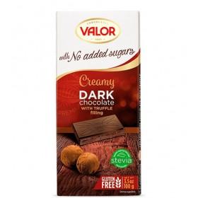 Tablette Chocolat Pur et Mousse de Truffe Sans Sucre avec Édulcorant pour Diabétique V