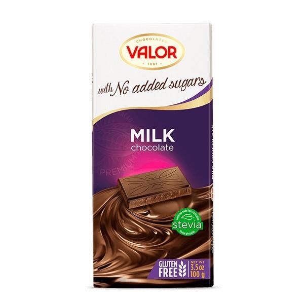 Tablette Chocolat au Lait Sans Sucre avec Édulcorant Pour Diabétique V