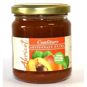 Confiture Abricot ARTISANALE EXTRA Sans Sucre avec Édulcorant  Pour Diabétiques