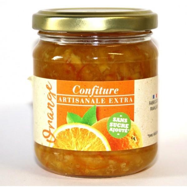 Confiture d'Orange ARTISANALE EXTRA Sans Sucre avec Édulcorant Pour Diabétiques
