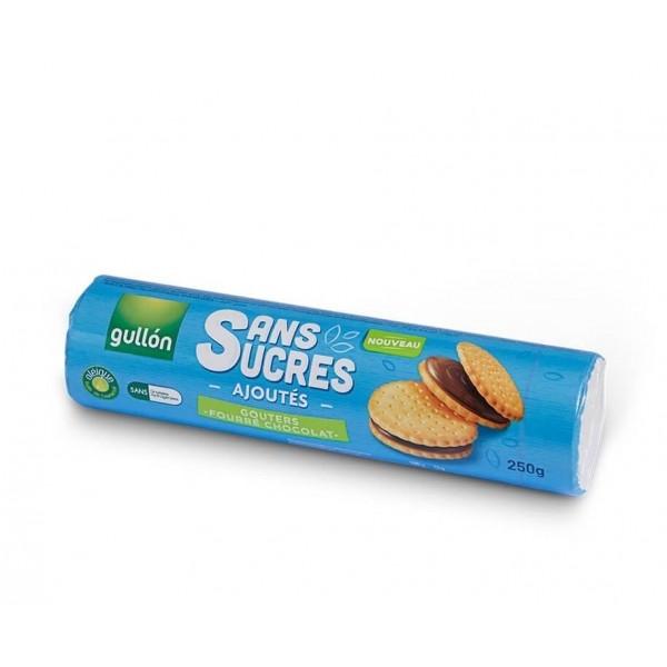 Biscuits Sandwich fourrés chocolat sans sucre ajouté pour diabétiques - G