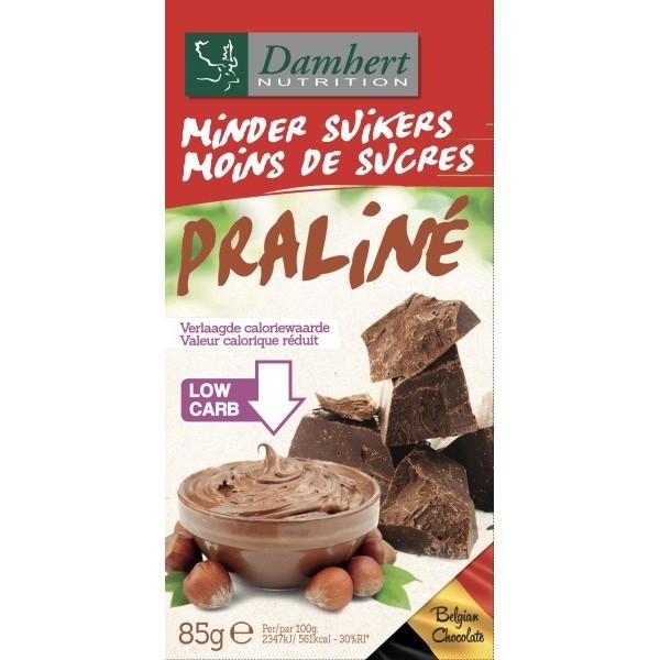 Tablette Chocolat lait Praliné Sans Sucre Tagatose