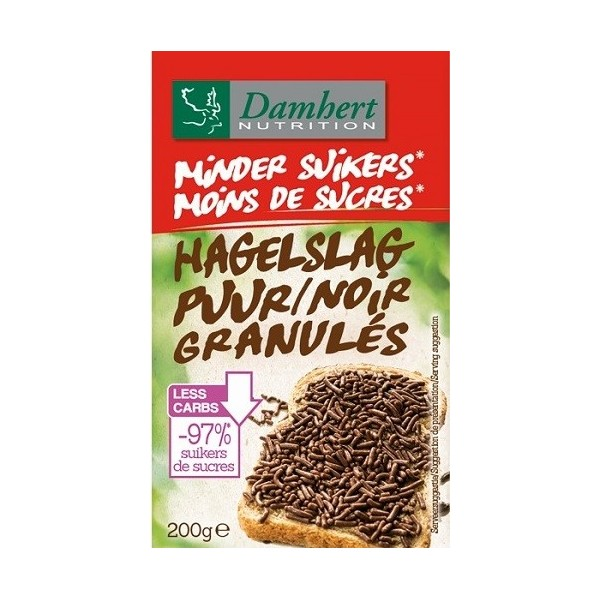 granulés Chocolat noir sans sucre ajouté