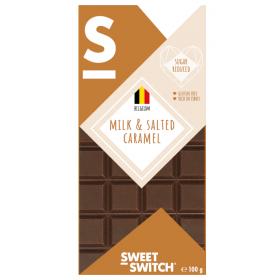 Chocolat lait Caramel au beurre salé sans sucre ajouté 100g SW