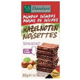 Tablette Chocolat lait noisettes Sans Sucre ajouté 85g - D
