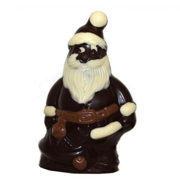 Père Noël en chocolat noir sans sucre pour diabétiques 120g - R