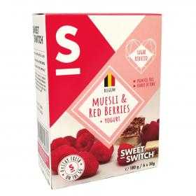 Barre céréales fruits rouges et muesli sans sucre ajouté