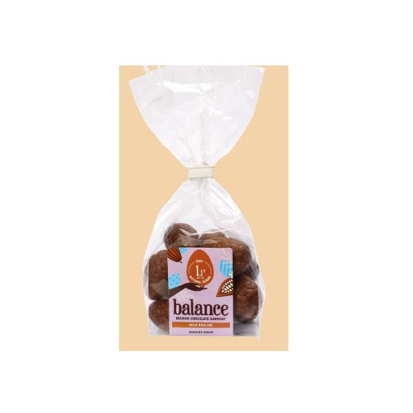 Oeufs de Pâques en chocolat lait praliné sans sucre ajouté pour diabétiques - B