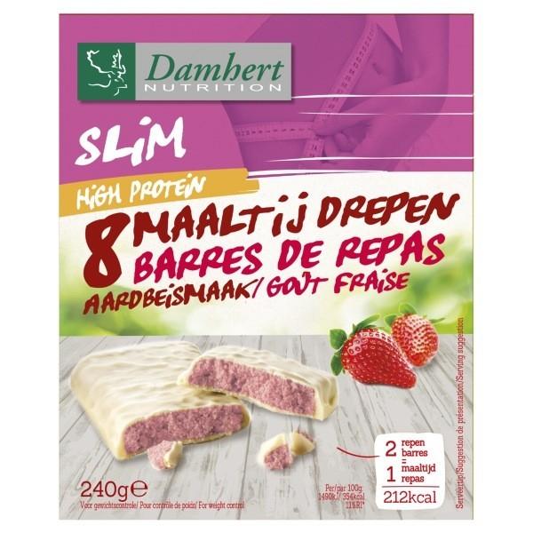 Barres  protéinées fraise chocolat blanc 240g - D