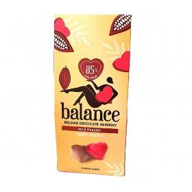 Coeurs en chocolatlait praliné sans sucre ajouté 126g - B